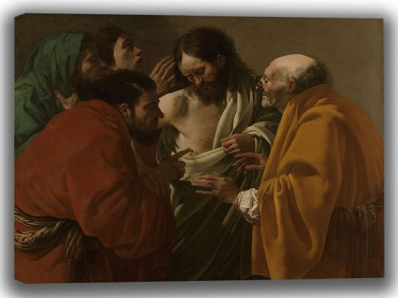 Brugghen, Hendrick Ter: The Incredulity of Thomas. Fine Art Canvas. Sizes: A4/A3/A2/A1 (004029)
